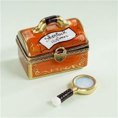 Limoges Sherlock Holmes Bag with Magnifier Box.
