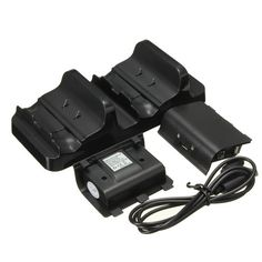 Dual USB Charging Dock Controllers Charger With Batteries For X One