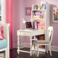 Lea Hannah Bookcase Writing Desk with Hutch...love these legs! Can I get a regular desk with these legs?
