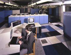 "johnclaudielectronics: "" UNIVAC 1108 and IBM 3032, April 1980 70's NOSTALGIA """