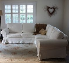 Sectional Sofas On Pinterest Junk Chic Cottage Slipcovers And L