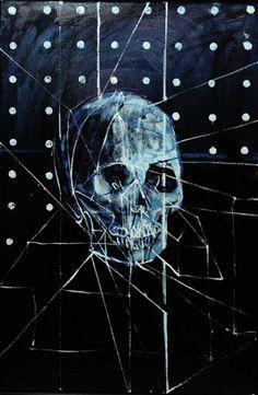 Damien Hirst. Skull. Oil painting