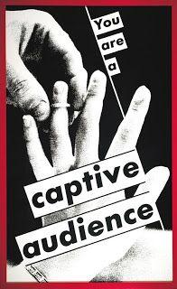 You Are a Captive Audience ⎮ Barbara Kruger Barbara Kruger Art, Eastman House, Riot Grrrl, Political Art, Feminist Art, Conceptual Art, Love Words, Jasper Johns, Installation Art