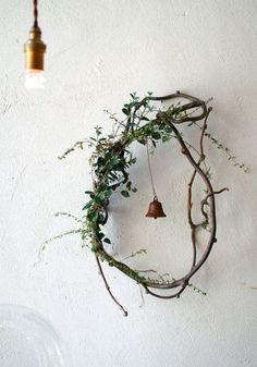 Wedding hoop with green and flowers bridal shower decor decoration ヒ ビ コ ト / co Ideas with dried flowers – Miss Klein DIY Valentine's Day Hoop Wreath with Wood Slices – Lydi Out Loud, DIY embroidery hoop wreath … Christmas Time, Christmas Wreaths, Christmas Crafts, Christmas Decorations, Holiday Decor, Whimsical Christmas, Holiday Parties, Xmas, Twig Art