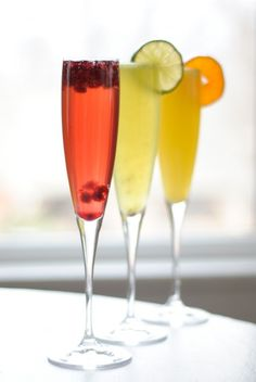 Bubblies on New Year's Eve #drinks #cocktails #drinkrecipes