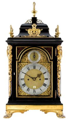 Industrial minimalism has its place but I need more Georgian clocks and ormolu in my life. George III bracket clock from Montpellier Clocks at the LAPADA Antiques and Art Fair this September in London. Antique Watches, Antique Clocks, Mechanical Clock, Mantel Clocks, Cool Clocks, Retro Clock, Modern Clock, Grandfather Clock, Antiques