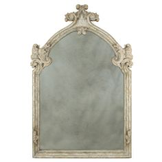 Large Cathedral Cloisters Mirror - gray finish  attic on wall over Dressing table