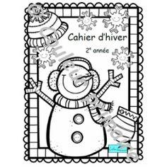 Cahier d'activités Hiver et Saint-Valentin 2e année www.couleurprimaire.ca/boutique Boutique, Activities, School Resources, Boutiques