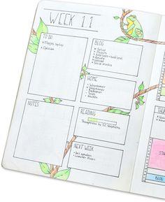 Weekly Spread van Planning Routine