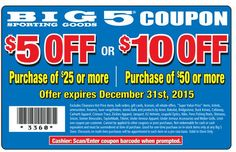 Pinned December 3rd: $5 off $25 & more at Big 5 sporting goods #coupon via The #Coupons App Grocery Coupons, Shopping Coupons, Free Coupon Codes, Coupon Deals, Free Printable Coupons, Free Printables, Big 5, Card Reading