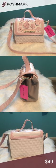 "Betsey Johnson Triple Compartment Handbag Brand New With Tags Betsey Johnson 3 Compartment Handbag Single Top Handle 3"" Drop.Shoulder Strap 23"" Drop. Removable Shoulder Strap Smoke Free Home. Retail $88 Betsey Johnson Bags"