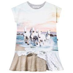 Molo Caeley Dress White Horses White Horses Tights, Leggings, White Horses, Girls Wardrobe, Baby Shop, Little Girls, Dresser, Design, Cloakroom Basin