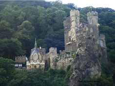 One of the many castles along the Rhine River in Germany.
