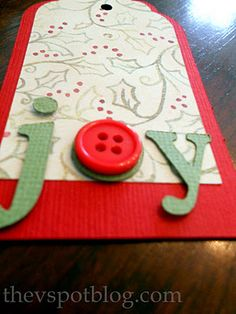 The V Spot: Paper Projects: Homemade Gift Tags