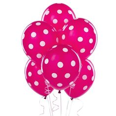 10 pc BERRY HOT PINK LATEX PARTY SHOWER BALLOONS #Qualatex #Any