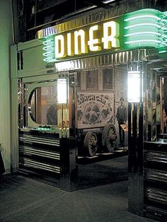 Diner.   When I see any place that looks legitimate throwback like this, I automatically wanna eat and experience there