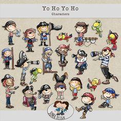 SoMa Design: Yo Ho Yo Ho - Characters Digital Scrapbooking, Comics, Characters, Kit, Design, Figurines, Cartoons, Comic