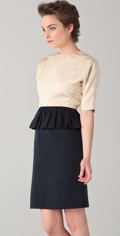 been looking for a dress with a peplum.  this totally fits the bill! marc by marc jacobs $598