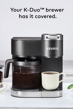 The K-Duo brewer means you can always have mom's cup of decaf ready to go.even if the rest of the family wants dark roast. Coffee Brewer, Coffee Shop, Coffee Cups, Tea Cups, Best Espresso, Espresso Coffee, Grey Bedroom Decor, Dark Roast, Avocado Recipes