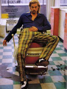 Brad Pitt by Annie Leibovitz for Vanity Fair February 1995
