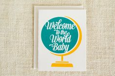 Welcome to the World New Baby Card Congratulations by FMCstudio