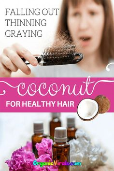 How To Use Coconut Oil To Prevent Graying, Balding Hair, And More - Coconut oil is perfectly made to nourish one�s hair. #coconut #hair #coconutoil #greyhair #BiotinForHairLoss