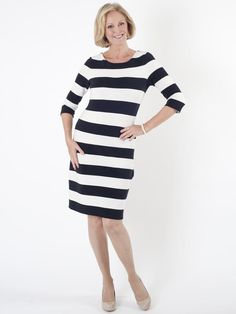 Shopping Online Original Jersey dress with a striped pattern black female Taifun Explore Cheap Price BKvwT4