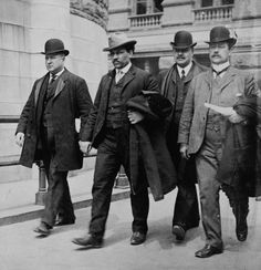 Tomasso Petro (second from left) was arrested for the murder of Benedetto Madonia (the famous 1903 Barrel Murder), but was released for lack of evidence. Petro was murdered himself in 1905.