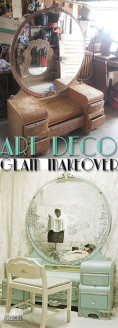 Art Deco Glam Makeover by Prodigal Pieces www.prodigalpiece… Art Deco Glam Makeover by Prodigal Pieces www.prodigalpiece… Image Size: 647 x 1800 Source Art Deco Furniture, Paint Furniture, Shabby Chic Furniture, Furniture Projects, Furniture Making, Furniture Makeover, Vintage Furniture, Furniture Online, Cheap Furniture
