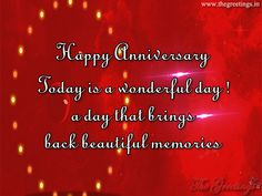 The Greetings - Greet Your Loved One, Lover in Morning Marriage Anniversary Quotes, Wedding Anniversary Wishes, Happy Anniversary, Wonderful Day, Neon Signs, Memories, Happy Brithday, Memoirs, Souvenirs