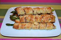 Asparagi avvolti in pasta sfoglia