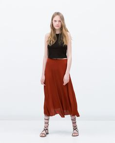 ZARA - COLLECTION AW15 - MIDI SKIRT