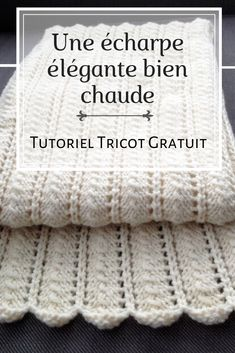 Une écharpe élégante bien chaude - tuto Learn the fact (generic term) of how to crocheting, at the v Doll Amigurumi Free Pattern, Crochet Shrug Pattern, Crochet Shawl, Knitting Designs, Crochet Designs, Knitting Patterns, Scarf Patterns, Scarf Tutorial, Shawl Patterns
