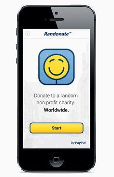 RanDonate app PayPal hackathon 2013