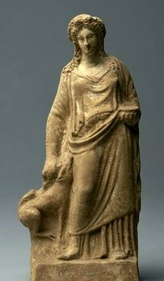 Figurine of Demeter with Pig -  400's BC, found Athens, at the Cleveland Museum