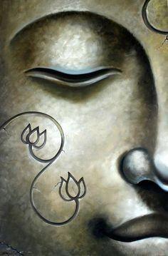 Buddha by lovingjulia Simple Oil Painting, Zen Painting, Buddha Painting, Easy Canvas Painting, Buddha Face, Buddha Zen, Buddha Buddhism, Buddhist Art, Buddha Artwork