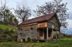 Old Store in the Blue Ridge Mountains, but it reminds me of my Granny's store, Lesseig's Corner Grocery near Tiff City, MO.