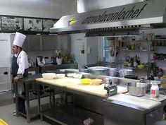 a professional kitchen
