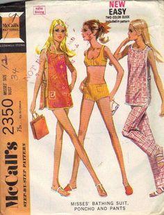 Retro Bikini Bathing Suit McCall's 70s by AdeleBeeAnnPatterns, $7.50