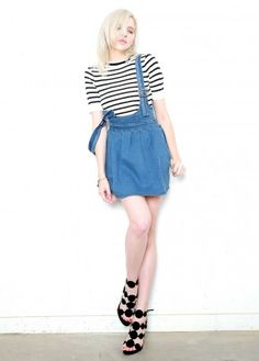 Overall It's A SKirt #skirt #overall #denim #outfit #trend #fashion #style #outfit #summer #chic #basic