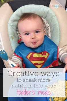 Do you have a picky eater on your hands? Check out these creative tips for making toddler meals more healthy. You can sneak nutrition into your toddler's meals with a few simple hacks. They will never know! #healthytoddlermeals thecheekymommy.com