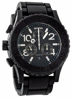 Nixon Rubber 42-20 Chrono Watch - Men/Women Black, One Size NIXON. Save 35 Off!. $243.72. Chronograph Display. Round Stainless Steel Case. Steel Bracelet Strap. Quartz. Water Resistance : 10 ATM / 100 meters / 330 feet
