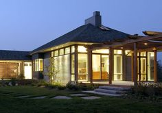 Architecture: Modern home in a rural Canadian setting with a hint of Eastern influence and simplicity.