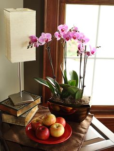 Pink Double Orchid Planter