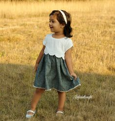 The Sullivan Dress PDF Pattern features a sweet scalloped or straight bodice, either short sleeves or sleeveless, and knee or maxi length. 12m-12years!