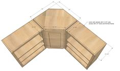 Ana White Build a Wall Kitchen Corner Cabinet Free and Easy DIY Project and Furniture Plans Kitchen Cabinet Dimensions, Kitchen Cabinet Sizes, Kitchen Wall Cabinets, Kitchen Pantry, Kitchen Sink, Corner Cabinets, Kitchen Shelves, Kitchen Decor, Kitchen Ideas