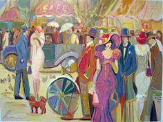 Women in Painting by Isaac Maimon Israeli Artist
