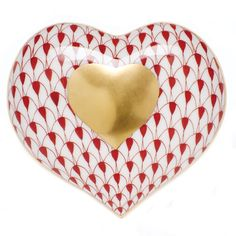 Herend Heart of Gold Figurine Rust Fishnet