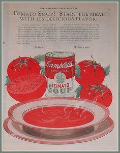 Campbells Tomato Soup Vintage Ad