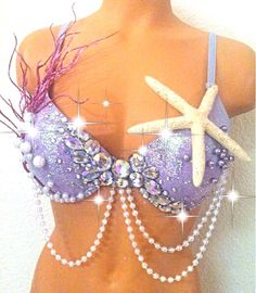 Mermaid Fantasy Rave Bra by TheLoveShackk on Etsy